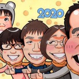 抜群の観察力を持つ似顔絵師が描いた家族の似顔絵