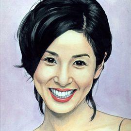 リアルタッチ似顔絵師が描いたまるで写真のような有名女優の似顔絵