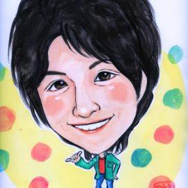 兵庫県在住のイベント経験豊富なベテラン似顔絵師が描いた男性芸能人の似顔絵