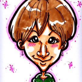 関東地方を中心にお祭りやイベントで活躍している似顔絵師が描いた女性の似顔絵