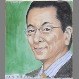 兵庫県を拠点に活躍している女性似顔絵師が描いた有名俳優の似顔絵