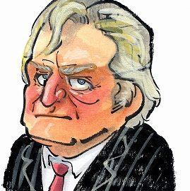 似顔絵セラピーもしている男性似顔絵師が描いたアメリカ大統領の似顔絵