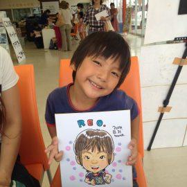 オシャレな画風を得意とする似顔絵師が描いた男の子の似顔絵