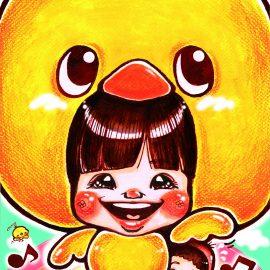 京都を中心に活動する女性似顔絵師が描いた有名子役の似顔絵