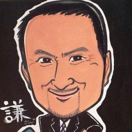 北海道を拠点に活動する女性似顔絵師が描いた大御所俳優の似顔絵