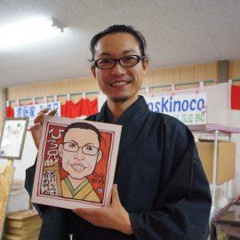 北海道を中心に活動する似顔絵師が描いた和装の似顔絵