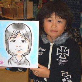 北陸地方を中心に活動する似顔絵師が書いた女の子の似顔絵