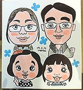ご家族の似顔絵