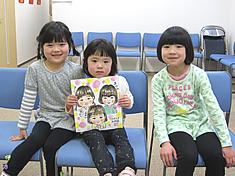 似顔絵をお描きした三姉妹