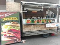 ハンバーガーの食品移動販売車