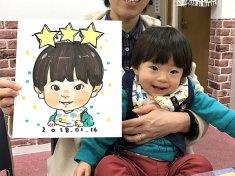 小さな男の子の似顔絵