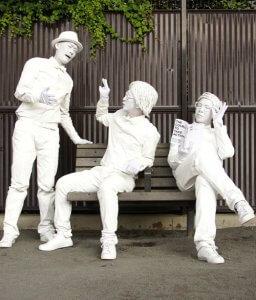 スタチュー(人間彫刻)のパフォーマー